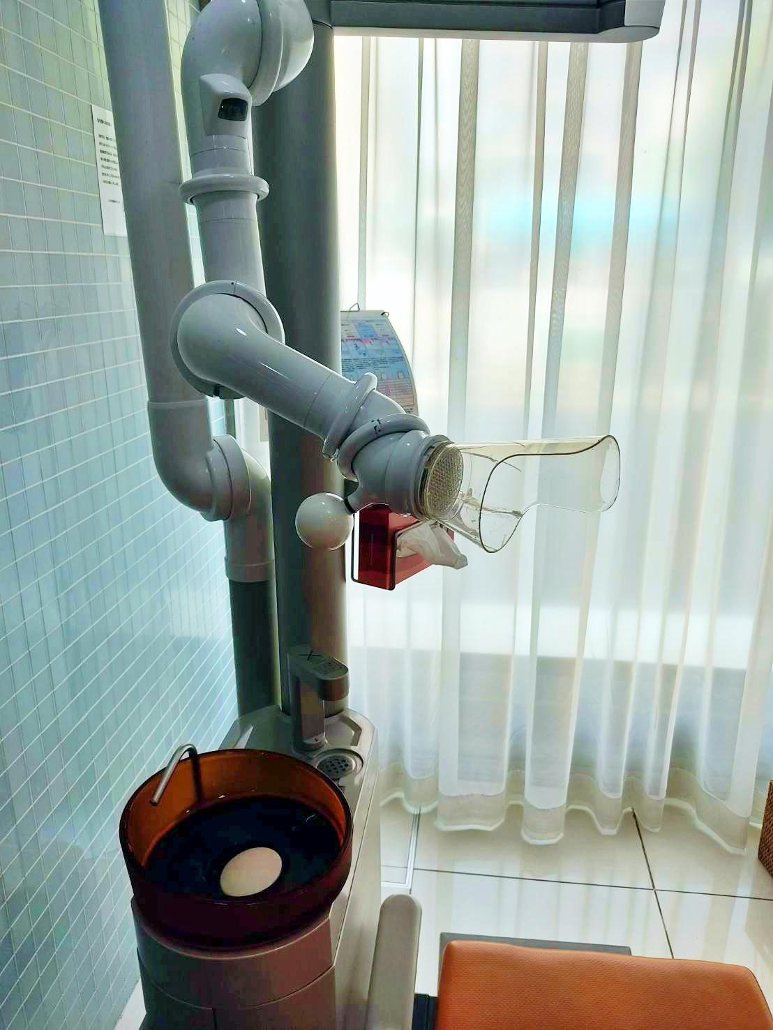 口腔外バキュームで綺麗な診療環境